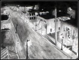 Small Town USA In Pencil by bdusen