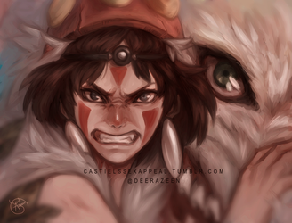 Princess Mononoke by DeerAzeen