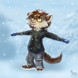 Catching some snow by Adamiro