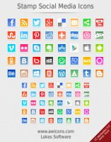 Stamp Social Media Icons by Insofta
