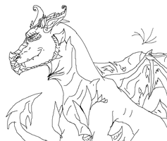 Garthon#1.0 - Free Dragon Base/Line Art CREDIT! by WonderlandTrades