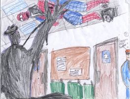 The Stain catches Spider-Man by Agent-G245