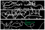 16 handwritten brushes by Affecting