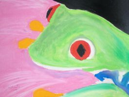 Red eye frog 2 by mandyblue