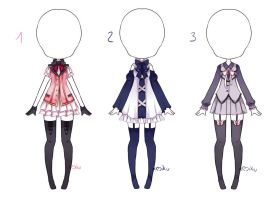 {Closed} Auction Outfit 120 - 121 - 122 by xMikuChuu