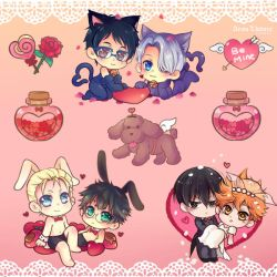 Valentine 2017 OTP stickers by arisa-chibara