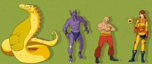 Obscure game characters 2 by Deimos-Remus