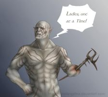 Azog is Ready to Defile by Michelangeline