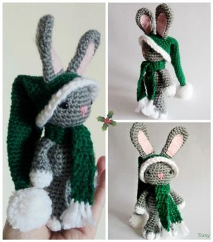 Christmas Bunny by SuniMam