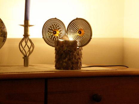 Owl lamp - lit by XofHope