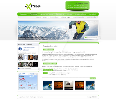 eXtremeDelight web design template by ROKIDO