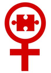 Autistic Woman Symbol by TotallyDeviantLisa