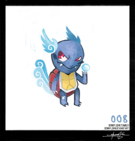 Wartortle!  Pokemon One a Day by BonnyJohn