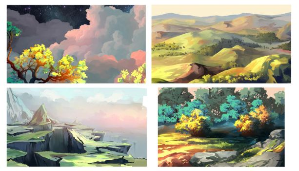 Some backgrounds by MasterTeacher