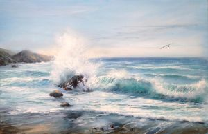 The sea breeze Canvas 40x60 acrylic / oil by Ludwina
