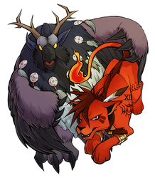 Red XIII and Moonkin by H0lyhandgrenade