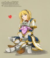 Lux and Timbersaw | Interaction Hug and Affection by sphelon8565