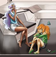Pidge and Allura hanging out by D-Floyd2