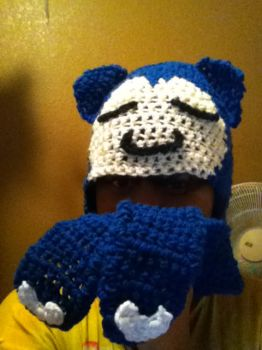 Snorlax Hat by silverstardust16