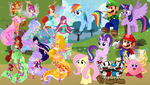 Mario and friends meet the Winx by user15432