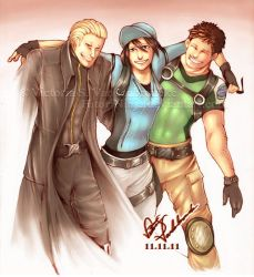 Commission: Remembrance - Wesker, Jill and Chris by MasterOfUnlocking