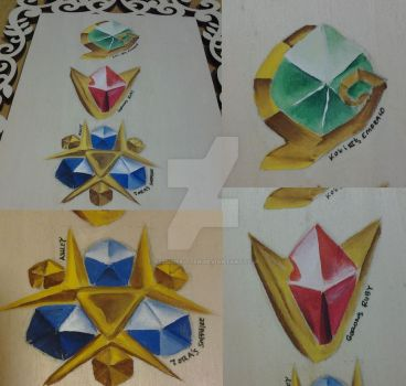 Ocarina of Time Spiritual Stones by xZ0mbieKitten
