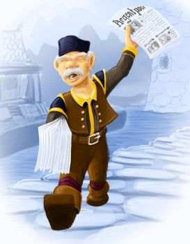 Newspapergnome by Dustdown