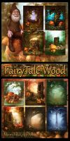 FairyTale Wood Backgrounds by moonchild-ljilja