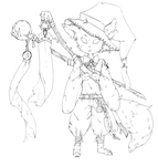 Mage 01 - Lineart by Niyomshi