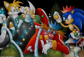 Sonic Christmas Decorations by jessicapadkin