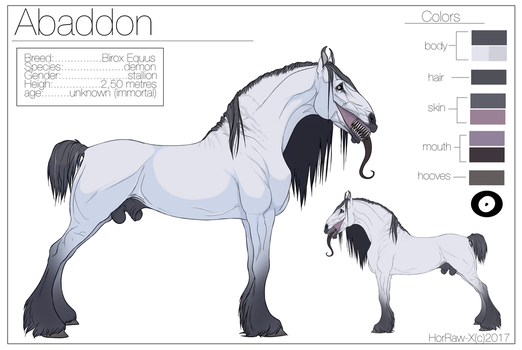 Abaddon |charater sheet| by HorRaw-X