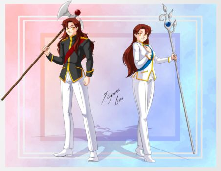 Comission - Clarie + Clarion by Shinta-Girl