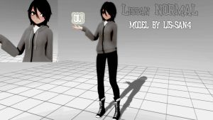 Mmd-Model Lissan Normal-DL by Lis-San4