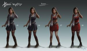 Project Scissors: NightCry - Rooney Design 02 by Chris-Darril