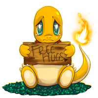 Charmander 'Free Hugs' Commission by SpagettiUrchin