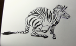 Inktober2016 day 24: Zebra-wallaby by Clean3d
