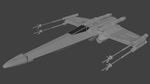 X-Wing Front View WIP by Master-M-Master
