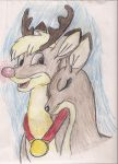 Rudolph and Zoey by MichiganWolf