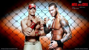 WWE Hell In A Cell 2014 Wallpaper/Match Card. by Shantanu009