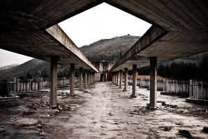 Decaying residence on the hills XVI by SilvieTepes