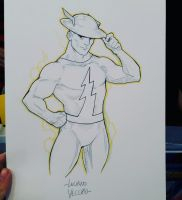 Jay Garrick Flash commission sketch at ACC by LucianoVecchio