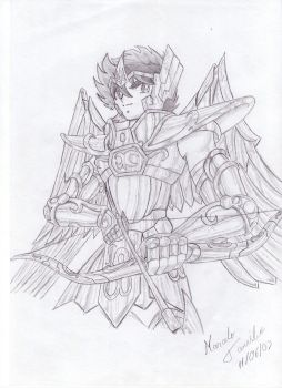 Seiya in Sagittarius' Cloth by marcelotanisho