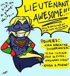 LIEUTENANT AWESOME by fish-puddle