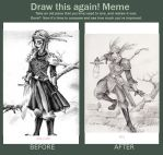 Draw This Again!  Elf Warrior :) by hyperrrmouse