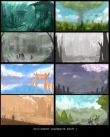 Environment Speed paint Batch 1 by StudioLG