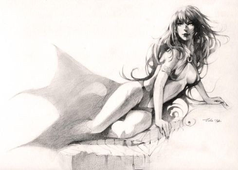 Vampirella - drawing commission by Pearlpencil