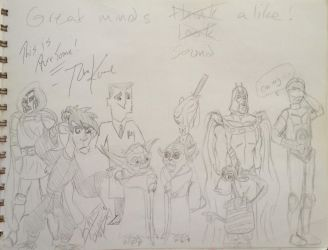 Signed Sketches: Tom Kane by Neosun7