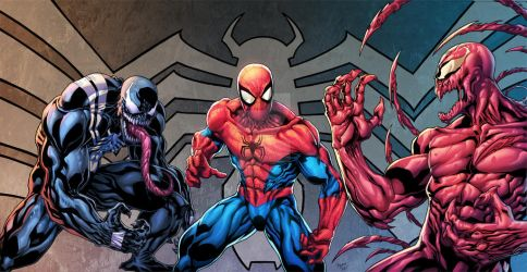 SPIDEY/VENOM/CARNAGE by Kid-Destructo