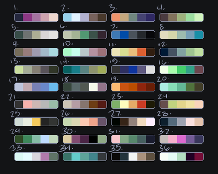 Palette Adopts [OPEN] by PixelOfMoons