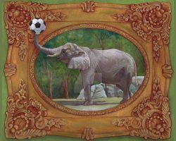 Elephants Love Soccer by johannachambers